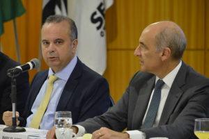 secretário Especial de Previdência e Trabalho do Ministério da Economia, Rogério Marinho e presidente do Secovi-SP, Basilio Jafet